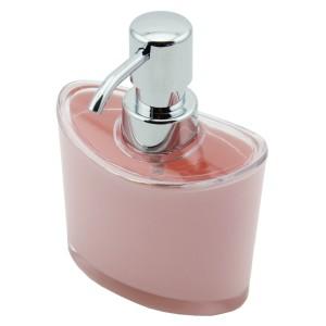 Perotti Akrilik Oval Sıvı Sabunluk Pembe