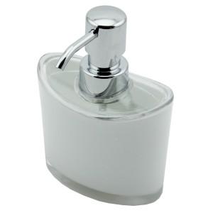 Perotti Akrilik Oval Sıvı Sabunluk Beyaz