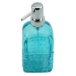 Menba Cam Kare Sıvı Sabunluk - Mavi