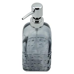 Menba Cam Kare Sıvı Sabunluk - Gri