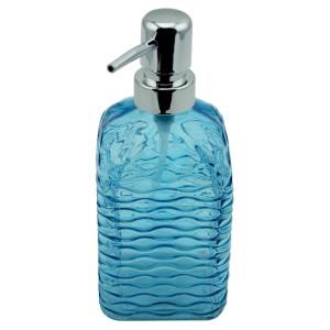 Perotti Cam Kare Sıvı Sabunluk - Mavi