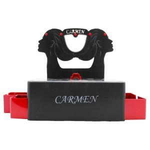 Carmen Çekmeceli Masa Üstü Takı Kutsu - Siyah