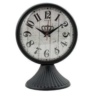Rikon Antik Ayaklı Metal Masa Saati - Siyah