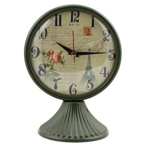 Rikon Antik Ayaklı Metal Masa Saati - Yeşil