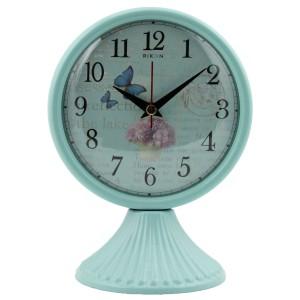 Rikon Antik Ayaklı Metal Masa Saati - Mavi