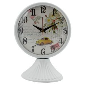 Rikon Antik Ayaklı Metal Masa Saati - Beyaz