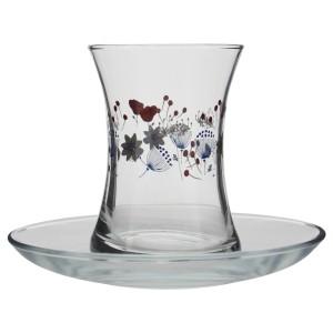 Paşabahçe Misis 12 Parça Desenli  Çay Bardağı Takımı