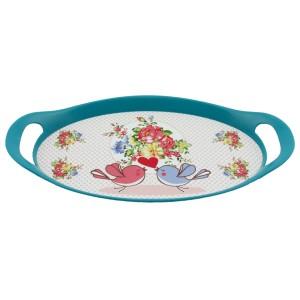 Meysan Mini Oval Tepsi - Mavi