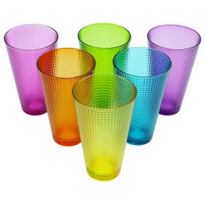 Workshop 6'lı Renkli Konik Meşrubat Bardağı