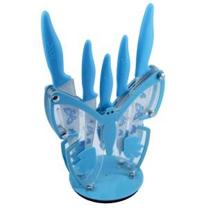 Roock 6'lı Renkli Kelebek Standlı Bıçak Seti