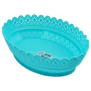 Plastik Dantelli Ekmek Sepeti Oval
