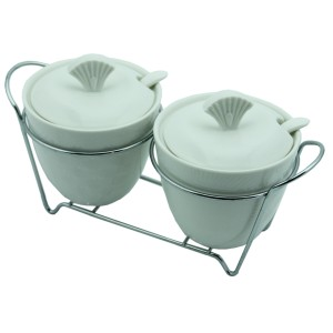 Cooker 2'li Porselen Sosluk