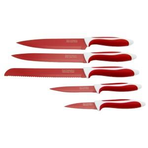 Pakiş 5'li Bıçak Seti Kırmızı