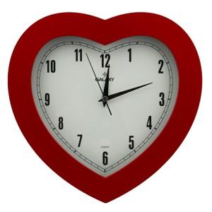 Galaxy Kalp Duvar Saati Kırmızı